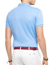 Polo Ralph Lauren   Blue Pima Soft-touch Polo Shirt for Men   Lyst