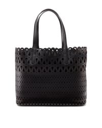 DKNY | Black Perforated Leather Shopper | Lyst