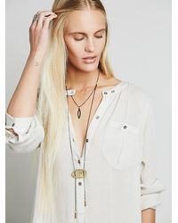 Free People | Metallic Golden Sun Tiered Bolo | Lyst