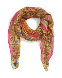 Ted Baker - Multicolor 'Jewel' Paisley Print Square Scarf - Lyst
