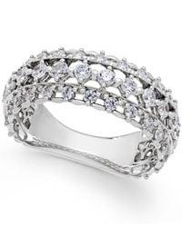 Marchesa   Metallic Certified Diamond Band In 18k White Gold (1 Ct. T.w.)   Lyst
