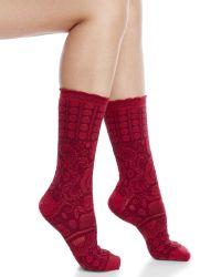Smartwool | Red Pika Puff Socks | Lyst