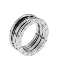 BVLGARI | Metallic Women's B.zero1 18k White Gold 3-band Ring Size 6 | Lyst