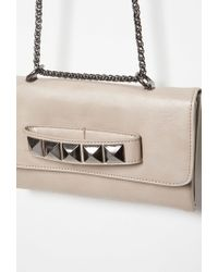 Forever 21 - Natural Studded Faux Leather Crossbody - Lyst