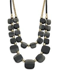kate spade new york | Black Colorblock Layered Necklace | Lyst