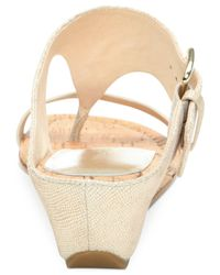 Donald J Pliner | Metallic Donald J Pliner Doli Wedge Sandals | Lyst