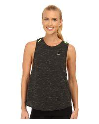Nike | Gray Dri-fit™ Tailwind Neon Slub Tank Top | Lyst