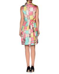 Manila Grace - Purple Short Dress - Lyst