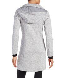 Calvin Klein | Gray Zip Front Sweatshirt | Lyst