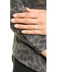 Shashi | Green Solitaire Ring - Sapphire | Lyst