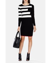 Karen Millen - Multicolor Block Stripe Stretch Knit Dress - Lyst