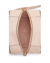 Tory Burch - Pink Robinson Pebbled Mini Satchel - Lyst