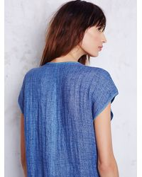 Free People - Blue Sleeveless Indigo Tunic - Lyst