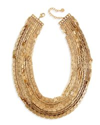 R.j. Graziano | Metallic Layered Square-link Necklace | Lyst
