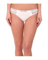 Calvin Klein | White One Microfiber Thong | Lyst