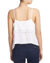 Guess | White Cold Shoulder Lace Top | Lyst