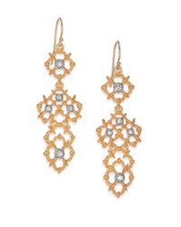 Alexis Bittar - Metallic Elements Moonlight Crystal Spur Lace Drop Earrings - Lyst