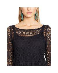 Polo Ralph Lauren   Black Crocheted Tunic   Lyst