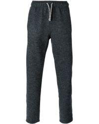 Laneus - Gray Drawstring Trousers for Men - Lyst