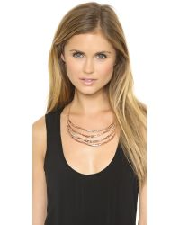 Alexis Bittar - Pink Tiered Artic Bib Necklace Rose Gold - Lyst