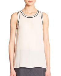 Rag & Bone | Natural Dana Slit Silk Tank Top | Lyst