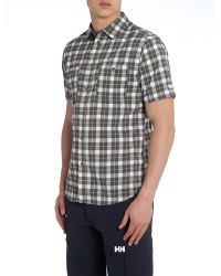 Helly Hansen | Black Jotun Nordic Check Short Sleeve Shirt for Men | Lyst