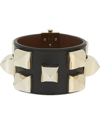 Givenchy | Black Large Stud Leather Bracelet | Lyst