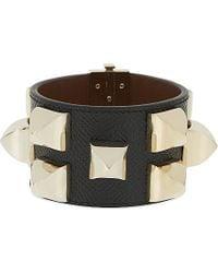 Givenchy - Black Large Stud Leather Bracelet - Lyst
