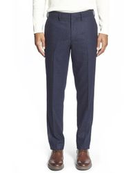 Bonobos - Blue 'work Day' Slim Trousers for Men - Lyst