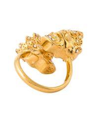 Alexander McQueen - Metallic Queen And King Skull Ring - Lyst