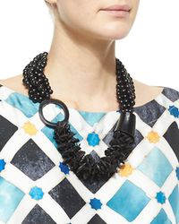 Eskandar - Black Multi-strand Mixed Beaded Necklace - Lyst