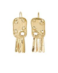 Aurelie Bidermann | Metallic Anita Organic Drop Earrings | Lyst