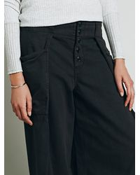 Free People - Black Always Sunny Chambray Wideleg - Lyst