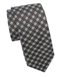 Michael Kors | Black Silk Patterned Tie for Men | Lyst