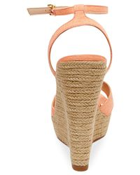 Madden Girl - Pink Viicki Espadrille Platform Wedge Sandals - Lyst
