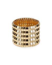 Aqua | Metallic Athena Geometric Cuff | Lyst