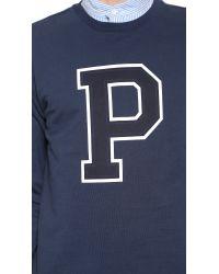 A.P.C. | Blue P Sweatshirt for Men | Lyst