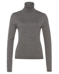 BOSS Gray Polo Neck Sweater In New Wool: 'famaurie'