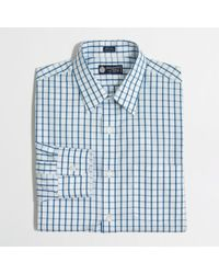 J.Crew - Blue Factory Slim Thompson Wrinklefree Pointcollar Dress Shirt in Large Tattersall for Men - Lyst