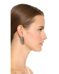 Adia Kibur | Metallic Shannon Earrings - Silver Multi | Lyst