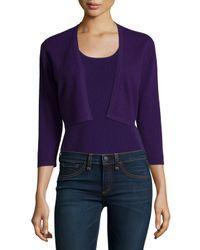 Neiman Marcus | Purple Modern Cashmere Shrug | Lyst
