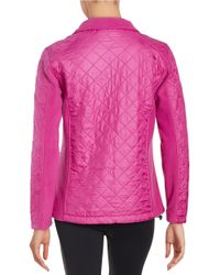 New Balance | Purple Quilted Jacket | Lyst