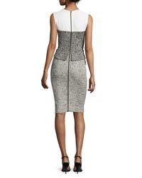 Narciso Rodriguez - Black Sleeveless Jacquard Peplum Dress - Lyst