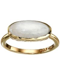 Cole Haan - Metallic Basket Weave Oval Semi Precious Ring - Lyst