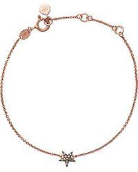 Links of London | Pink Diamond Essentials 18ct Rose Gold-vermeil And Diamond Bracelet | Lyst