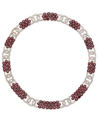 Sanjay Kasliwal - Red Diamond Ruby Cluster Necklace - Lyst
