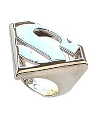 Noir Jewelry - Blue Superman Dc Comics Logo Statement Ring - Lyst