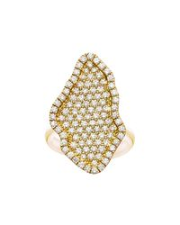 Kimberly Mcdonald | Metallic 18k Gold Pavé Diamond Geode-shaped Ring | Lyst