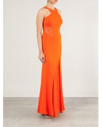 Cushnie et Ochs - Orange Mesh Inserts Evening Dress - Lyst