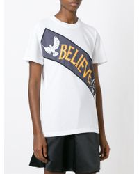 Marc By Marc Jacobs - White Believe Print T-shirt - Lyst